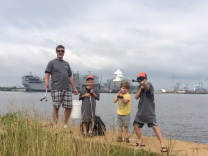 Father and Sons at Plum Point Park, Norfolk_JTC