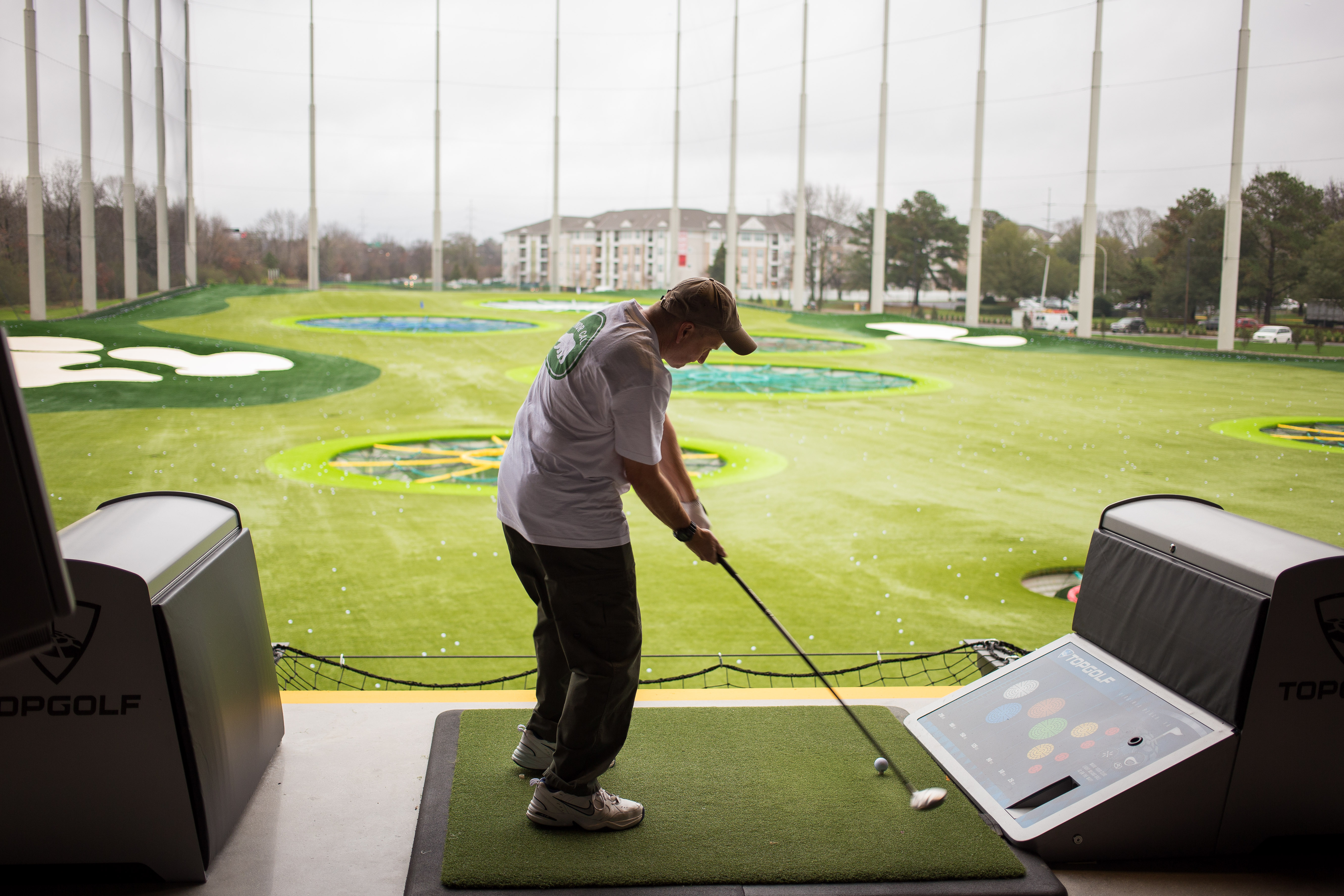 Topgolf Virginia Beach driving the ball