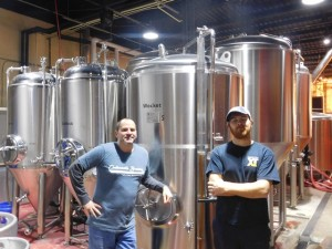Owner Kevin Erskine and Head Brewer Matt Topping