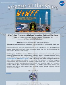 What%27s Your Frequency%2c Wallops - Amateur Radio on the Shore flyer
