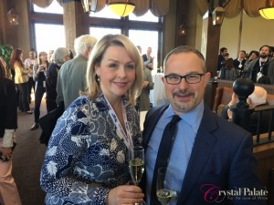Crystal with Keynote Speaker and Author Jon Bonne at the 2016 Va Wine Summit