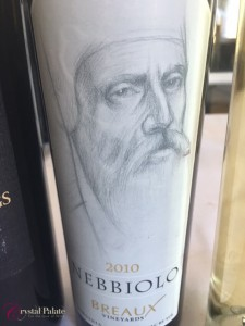 Breaux Vineyards Nebbiolo
