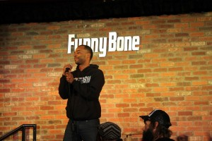 David tries out his material on the class