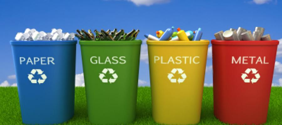 We use different bins for different types of waste