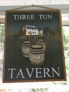 THREE TUN TAVERN SIGN - JERRY MAJNICH