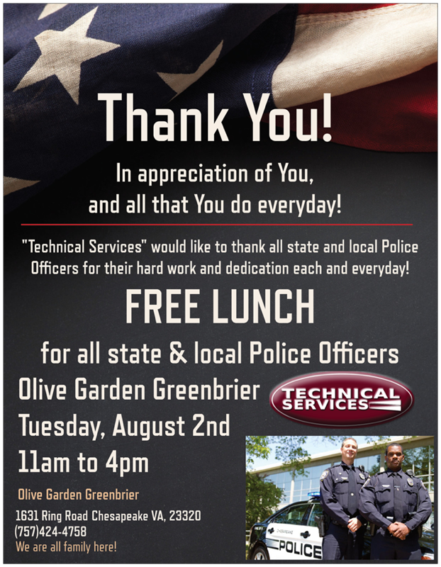 A Lunch In Honor Of Local Law Enforcement Hrscene