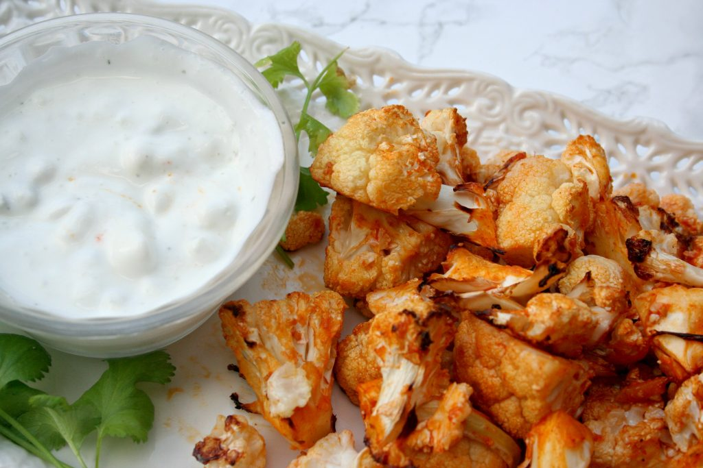 Recipe: Buffalo Baked Cauliflower | hrScene