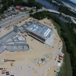 Aerial view of the new STEM school at Campostella. Photo courtesy: S.B. Ballard Co. and City of Norfolk