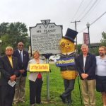Mr. Peanut dedication ceremony (Photo courtesy of the city of Suffolk)