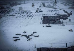 Sailor Snow Angels Sailors aboard the USS Dwight D. Eisenhower had a little fun during Saturday's snow.