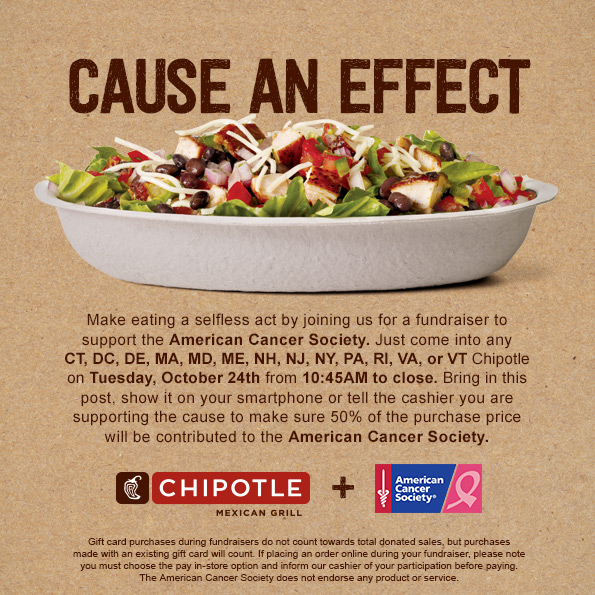 Eat Chipotle in Virginia Support the American Cancer Society