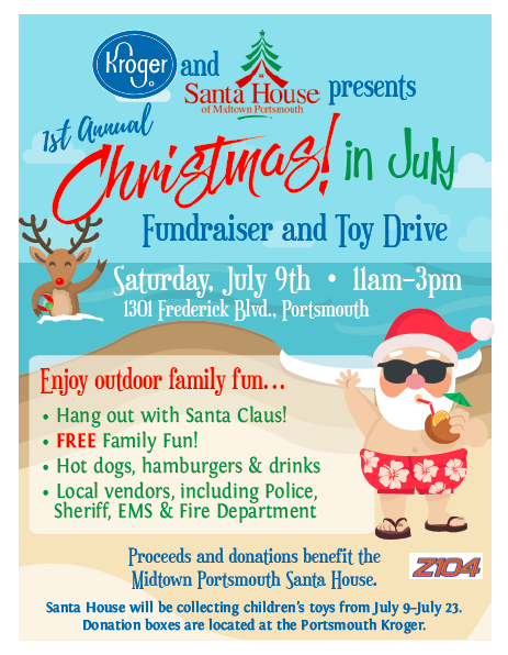 SantaHouse Christmas in July 2016 flyer hrScene